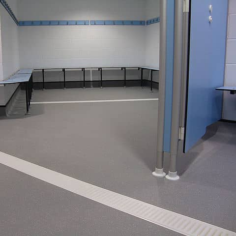 Anti-Slip Epoxy Barefoot Locker Room