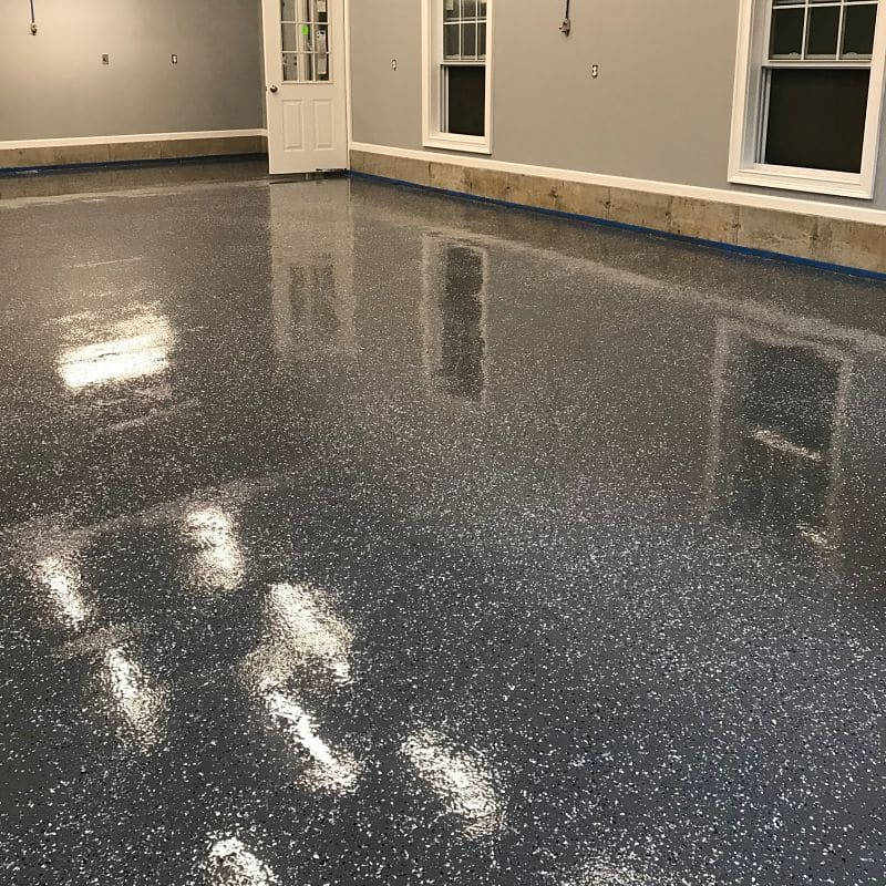 Commercial Garage 6009 Epoxy Base 5500 Polyaspartic Topcoat Floor Coating System